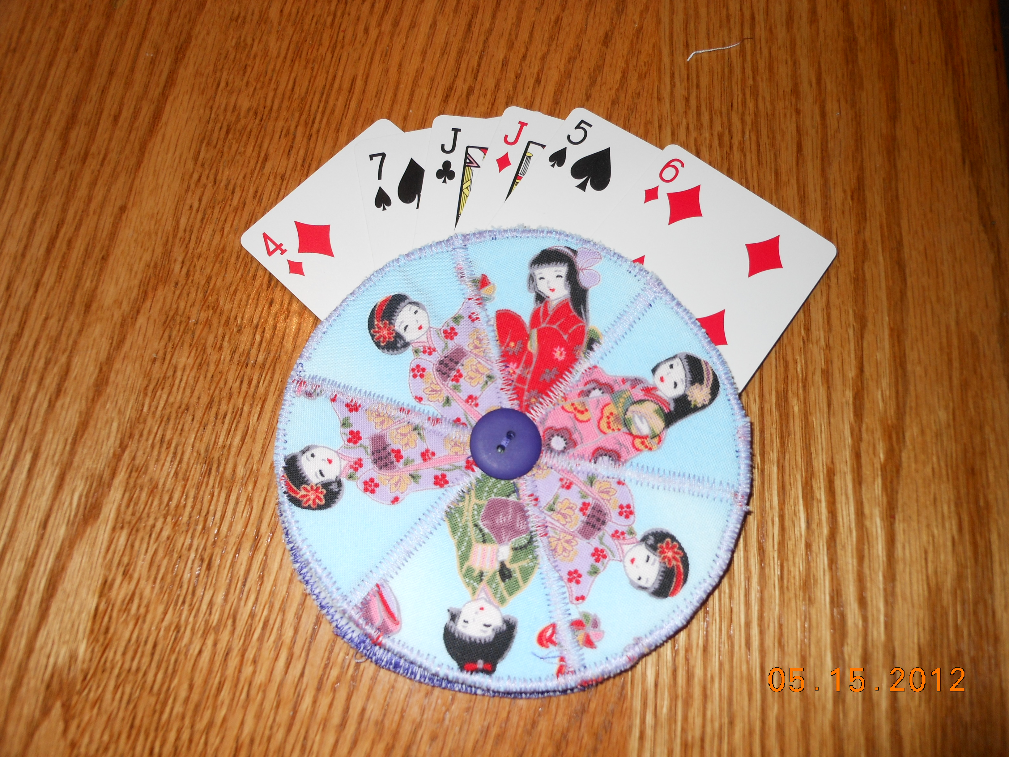 Playing Card Holder Craft Tutorial On The Go Quilting